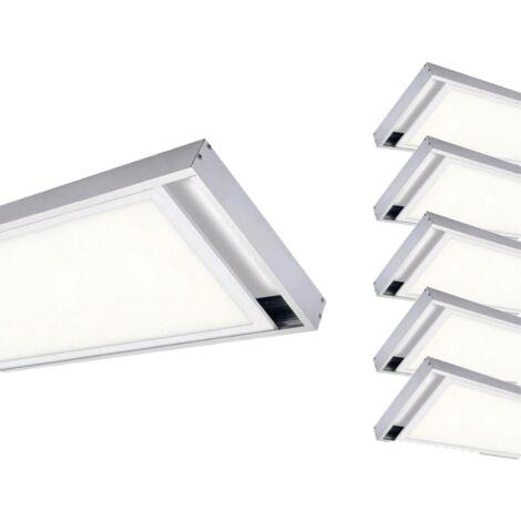 Kit en Saillie ALU pour Panneau LED 120x30 Slim (Pack de 6) - Aluminium - SILAMP