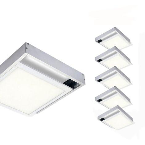 Kit en Saillie ALU pour Panneau LED 60x60 Slim (Pack de 6) - Aluminium - SILAMP