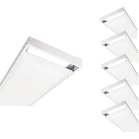 Kit en Saillie BLANC pour Panneau LED 120x30 Slim (Pack de 6) - Blanc - SILAMP