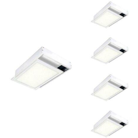 Kit en Saillie BLANC pour Panneau LED 60x30 Slim (Pack de 5)