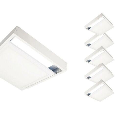 Kit en Saillie BLANC pour Panneau LED 60x60 Slim (Pack de 6) - Blanc