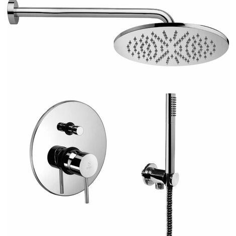Kit ensemble complet pour la douche Paffoni LIGHT KITLIG015   Chromé - Avec set de douche