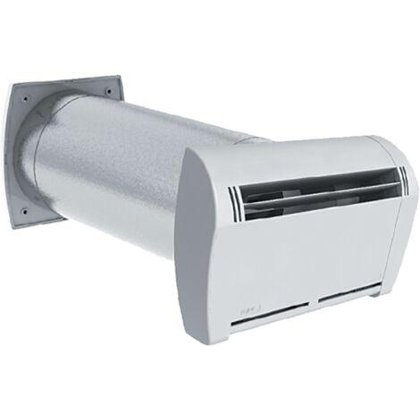 Kit entrée d'air Silent hygro 125 - ECONONAME - KSTMHY125 Kit silencieux de traversée de mur avec entrée d'air hygroréglable