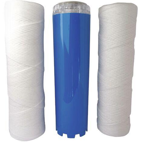 Kit Excellence - Lot de 3 cartouches (2 filtrations + 1 anticalc/corr)- Durée 24m