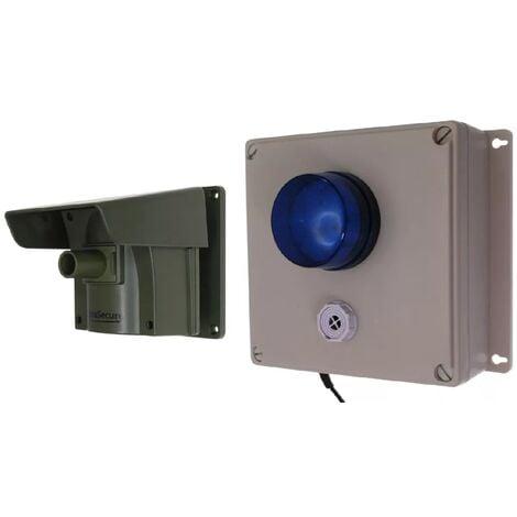 Kit extérieur Protect 800 - Alerte de passage sans fil longue distance (détecteur + récepteur + flash + sirène réglable)