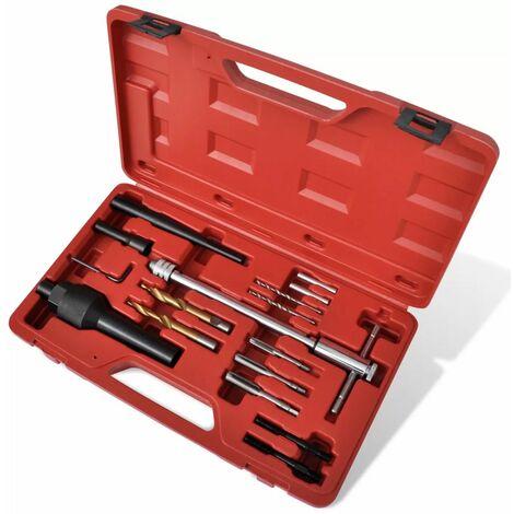 Kit extracteur bougie de prechauffage et reparation de filetage 16 pcs