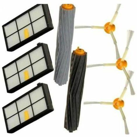 Kit Extracteur Brosse + 3 Filtres HEPA + 3 Brosse Latérale Pour iRobot Roomba Série 800