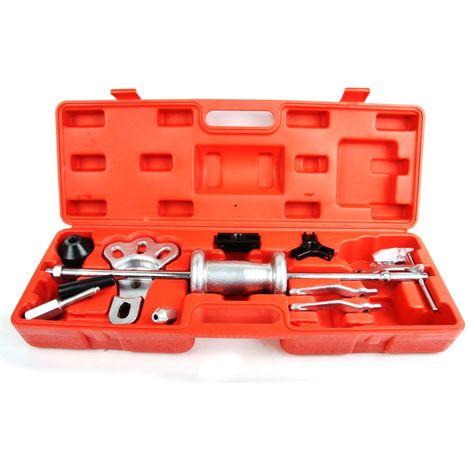 Kit extracteur de moyeu de roue et roulement à billes avec marteau à glissière 95-140 mm en coffret