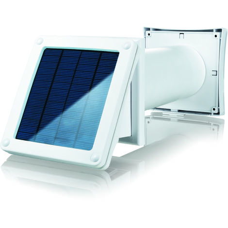 KIT Extractor SOLAR baño/cocina/otros + Tubo + Rejilla