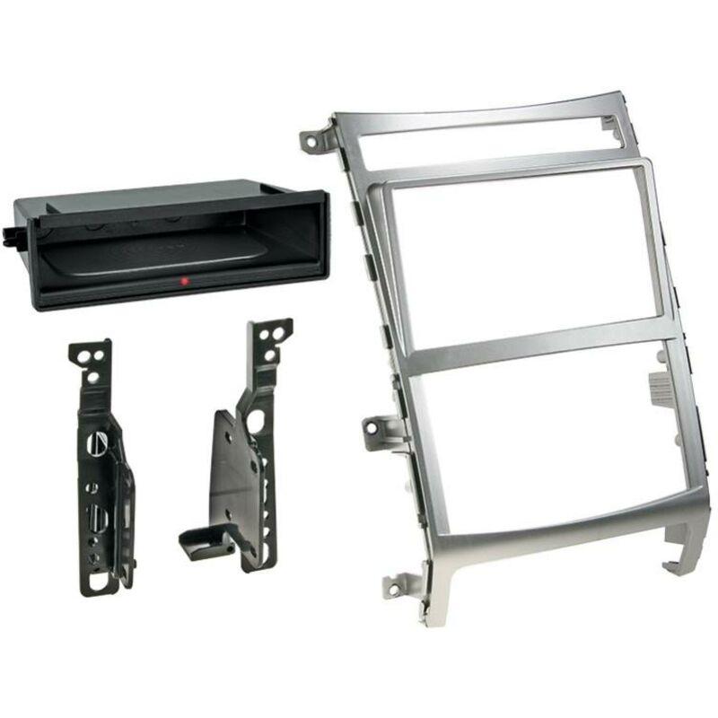 Kit Facade 2DIN compatible avec Hyundai ix55 09-12 Avec vide poche Induction Qi Argent