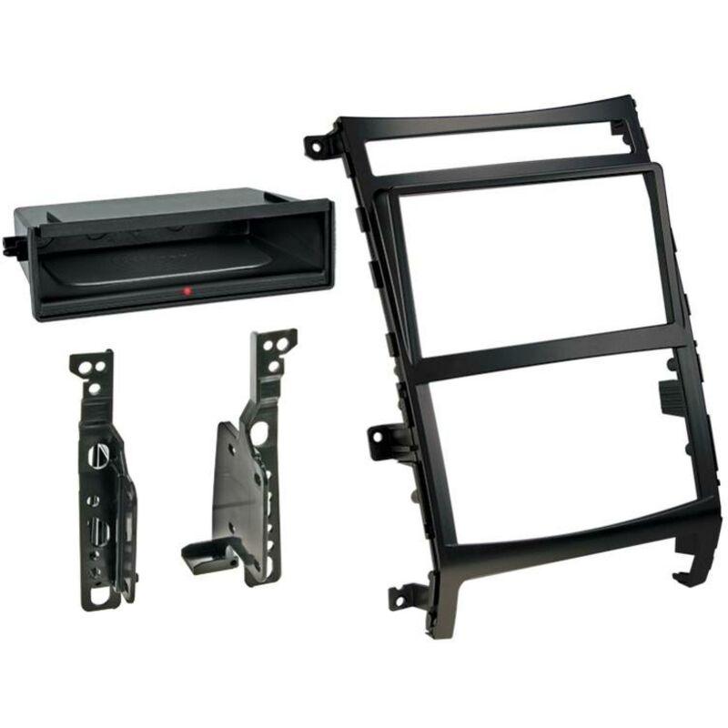 Kit Facade 2DIN compatible avec Hyundai ix55 09-12 Avec vide poche Induction Qi Noir