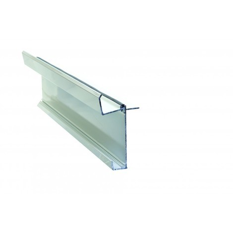 Kit faîtage inférieur pour couverture en polycarbonate L 4 m