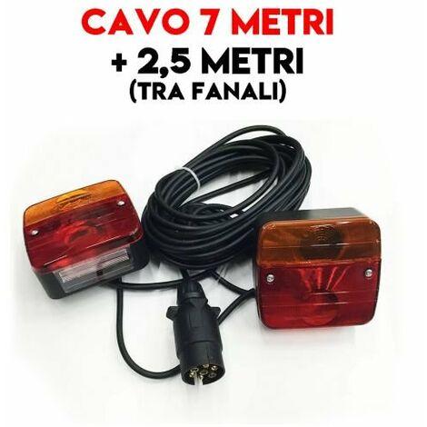 """main image of """"KIT FANALI POSTERIORE PER RIMORCHIO CARRELLI ROULOTTE TRATTORE 7 + 2,5 MT 24482"""""""