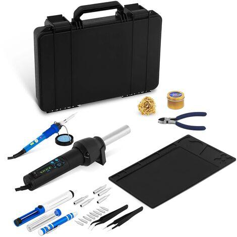 Kit Fer à Souder Dessouder Soudure Soudage Pompe Etain Fil Electronique 230V 60W