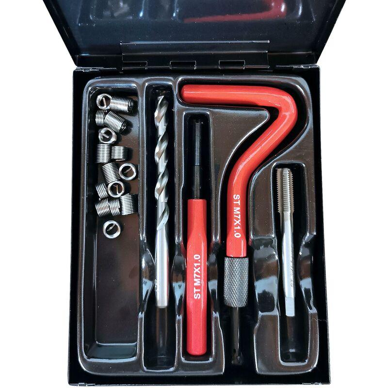 Kit de réparation de filets M7 x 1,0 29 pièces