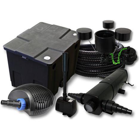 Kit Filtración de estanques 12000L 24W Clarificador CTF 40W bomba 25m tubo skimmer csp250fuente