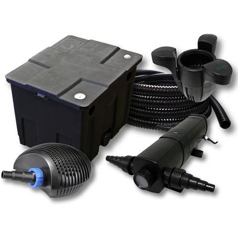 Kit Filtración estanques 12000L con 36W Clarificador CTF Éco Bomba con 40W 25m tubo skimmer SK30