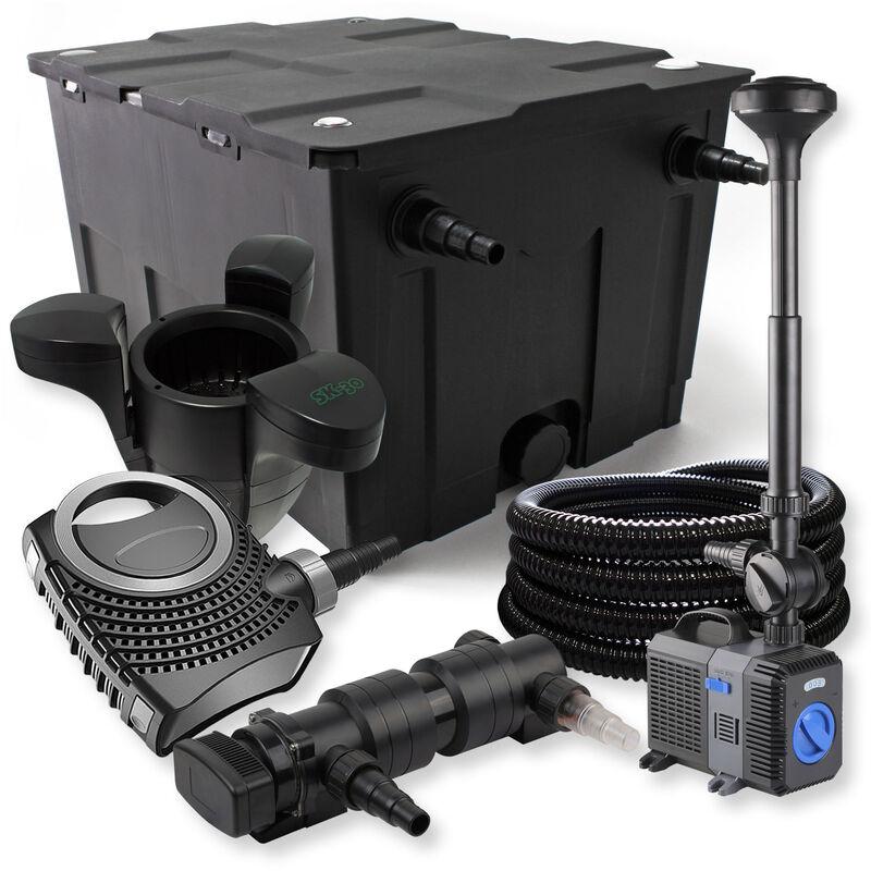 Wiltec - SunSun Kit de filtration de bassin 60000l 18W UVC Stérilisateur NEO8000 Pompe Tuyau Fontaine Skimmer
