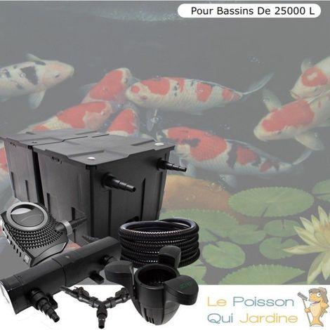 Kit filtration bassin de jardin complet 36W + écumeur pour 25000 l
