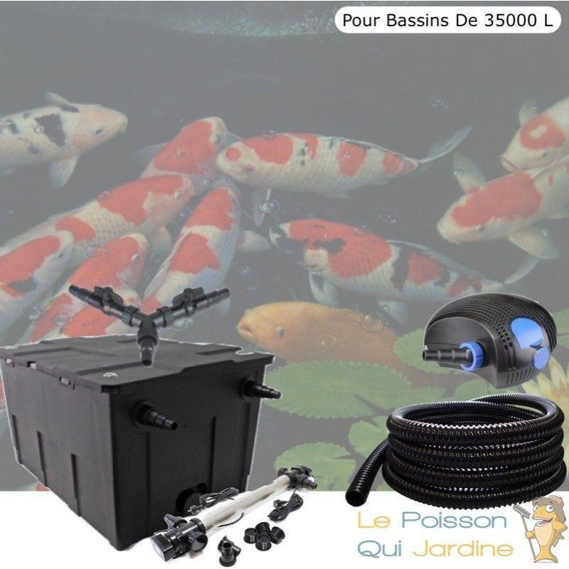 Kit Filtration Complet, UV 110W, Acier Inoxydable. Pour Bassins de 35000 L - LE POISSON QUI JARDINE