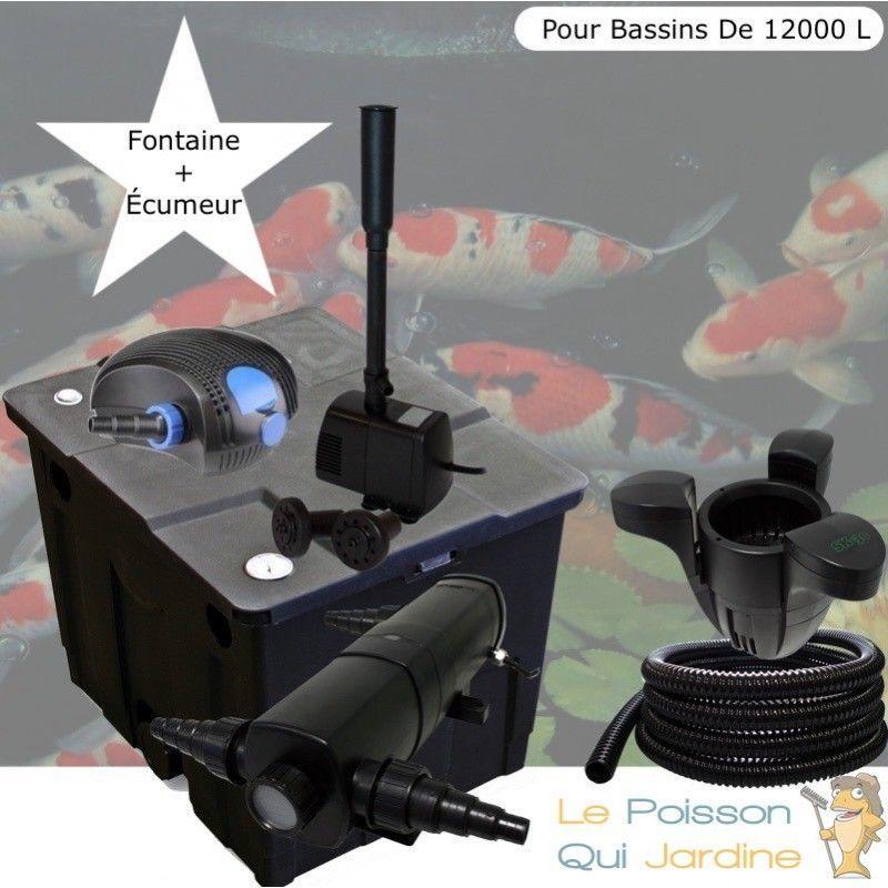 Kit Filtration UV 18W + Écumeur + Fontaine Pour Bassins De 12000 L - LE POISSON QUI JARDINE