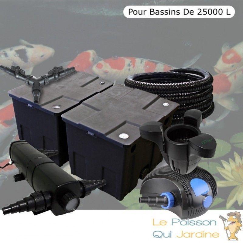 Kit Filtration Complet 18W + Écumeur Pour Bassins De 25000 L - LE POISSON QUI JARDINE