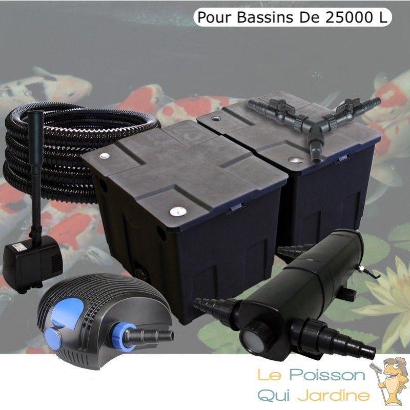 Kit filtration complet 18W + fontaine pour bassins de 25000 l - LE POISSON QUI JARDINE