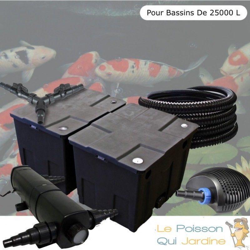 Kit Filtration, Complet, 18W, Pour Bassins De 25000 Litres - LE POISSON QUI JARDINE