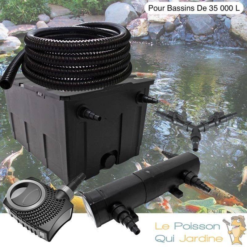Kit Filtration Complet, 18W, Pour Bassins Et Étangs De 35000 Litres - LE POISSON QUI JARDINE