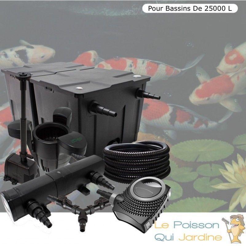 Kit filtration complet 24W + écumeur et fontaine pour bassins de 25000 l - LE POISSON QUI JARDINE