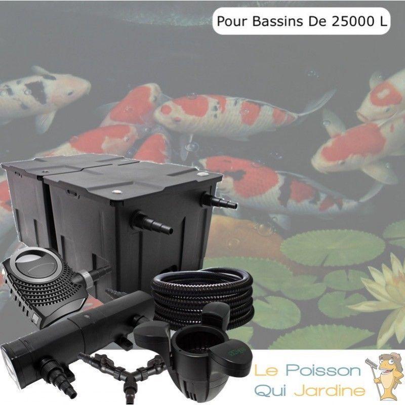 Kit filtration complet 24W + écumeur pour bassins de 25000 l - LE POISSON QUI JARDINE