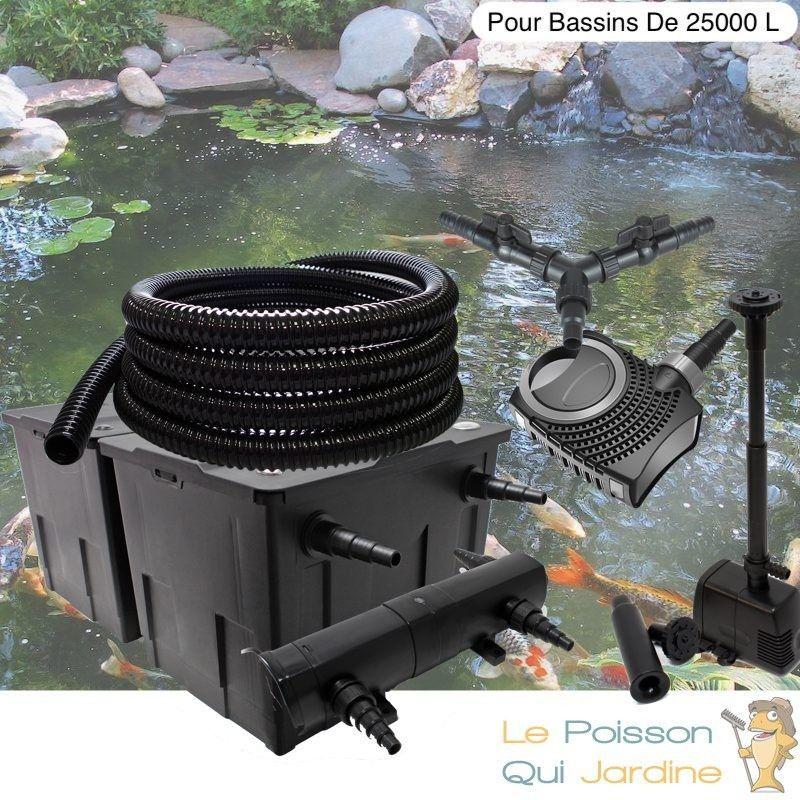 Kit filtration complet 24W + fontaine pour bassins de 25000 l - LE POISSON QUI JARDINE