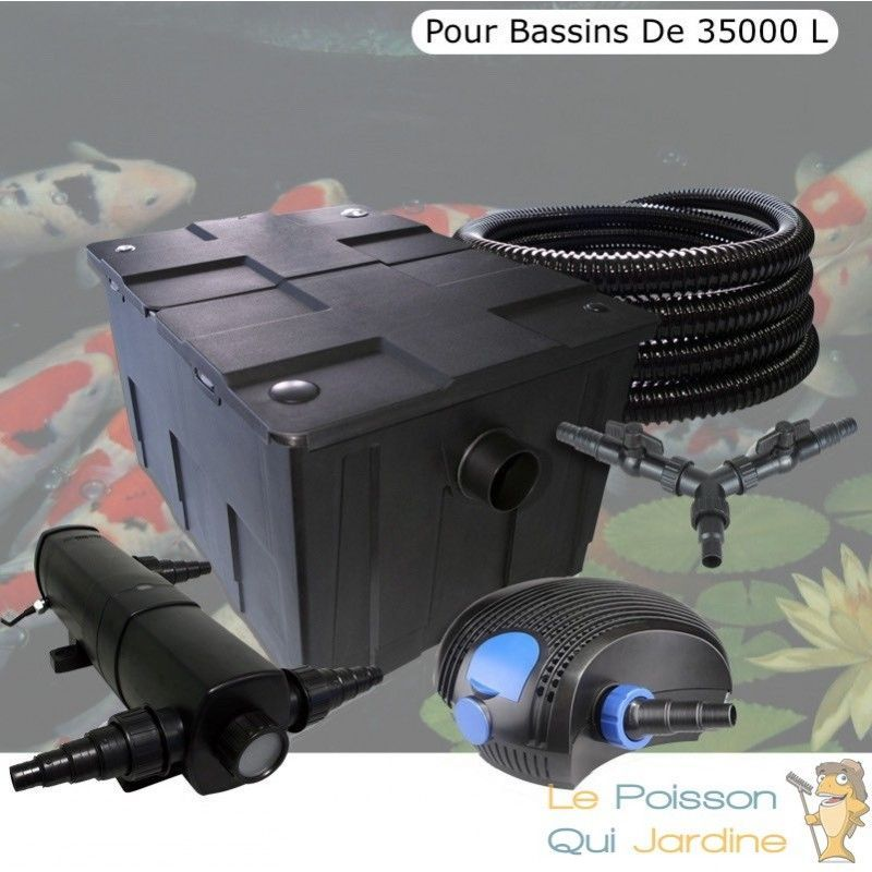 Kit Filtration Complet, 24W, Pour Bassins De 35000 L - LE POISSON QUI JARDINE