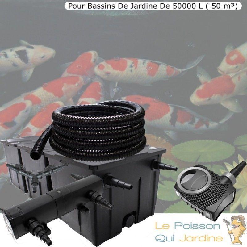 Kit Filtration Complet, 24W, Pour Bassins Jardin De 50000 litres ( 50 m³ ) - LE POISSON QUI JARDINE