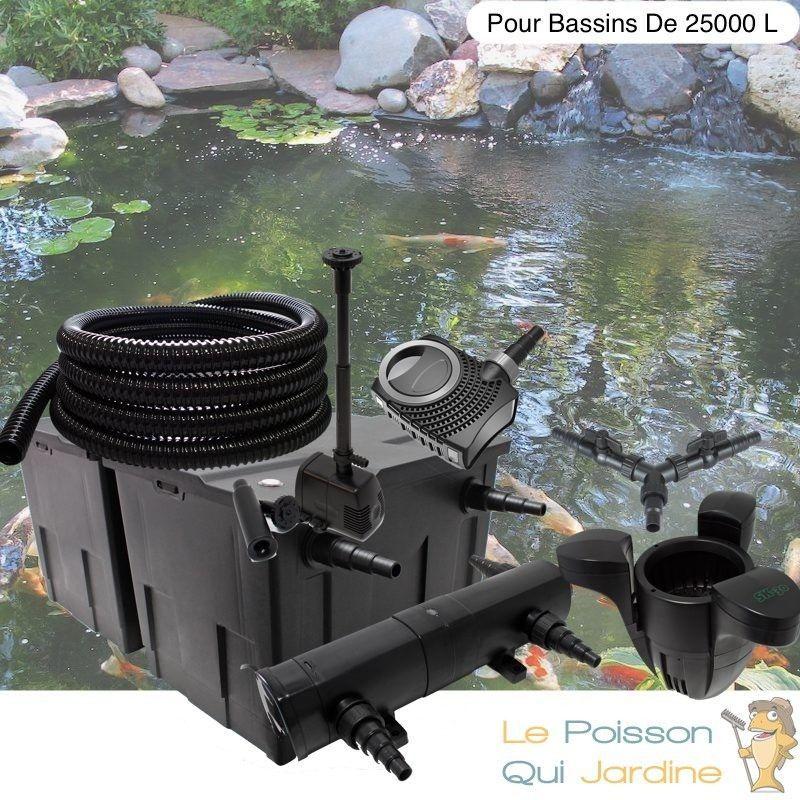 Kit Filtration Complet 36W + Écumeur Et Fontaine Pour Bassins De 25000L - LE POISSON QUI JARDINE