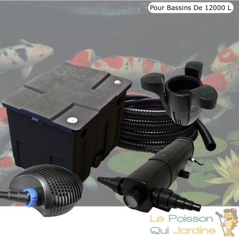 Kit filtration complet 36W + écumeur pour bassins de 12000 litres - LE POISSON QUI JARDINE