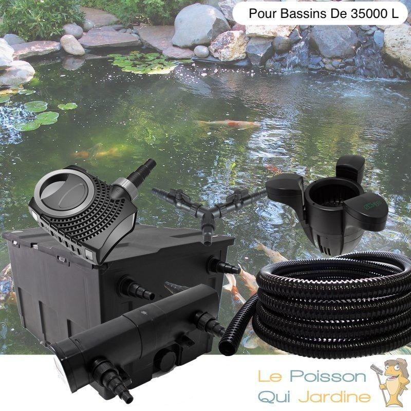 Kit Filtration Complet, UV 36W + Écumeur, Pour Bassins De 35000 L - LE POISSON QUI JARDINE