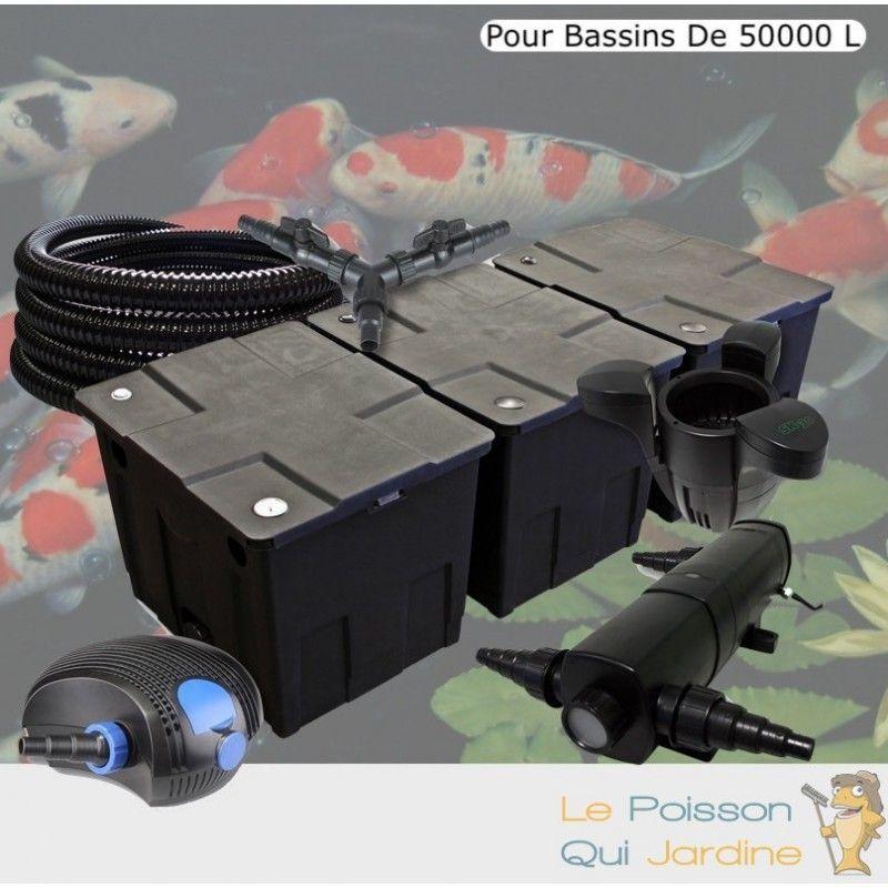 Kit Filtration Complet 36W + Écumeur Pour Bassins De 50000 L - LE POISSON QUI JARDINE