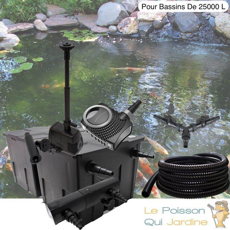 Kit Filtration Complet, UV 36W + Fontaine Pour Bassins De 25000 L - LE POISSON QUI JARDINE