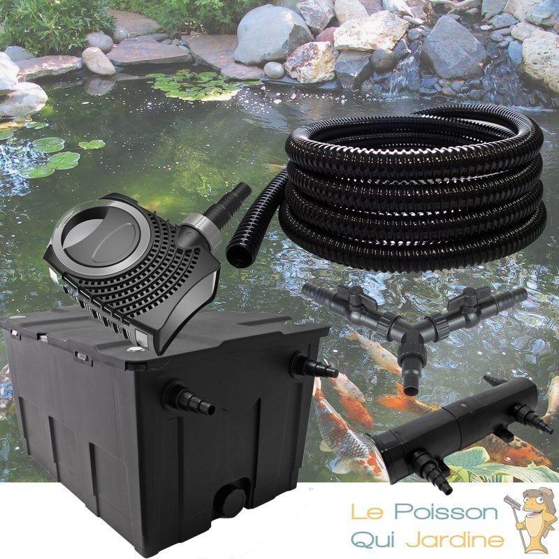 Kit Filtration Complet, 36W, Pour Bassins De 35000 Litres - LE POISSON QUI JARDINE