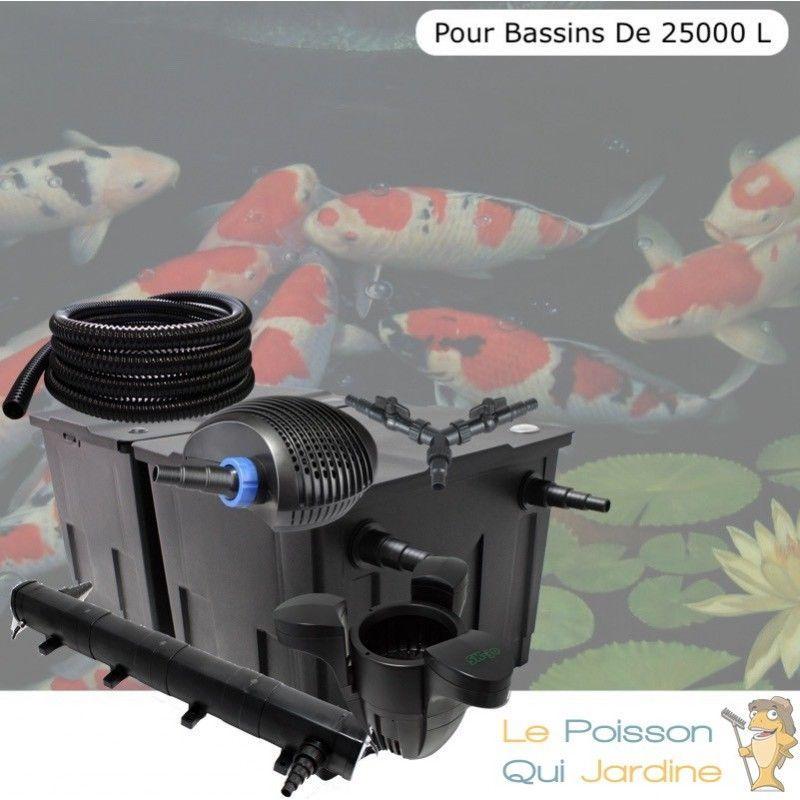 Kit filtration complet 72W + écumeur pour bassins de 25000 litres - LE POISSON QUI JARDINE