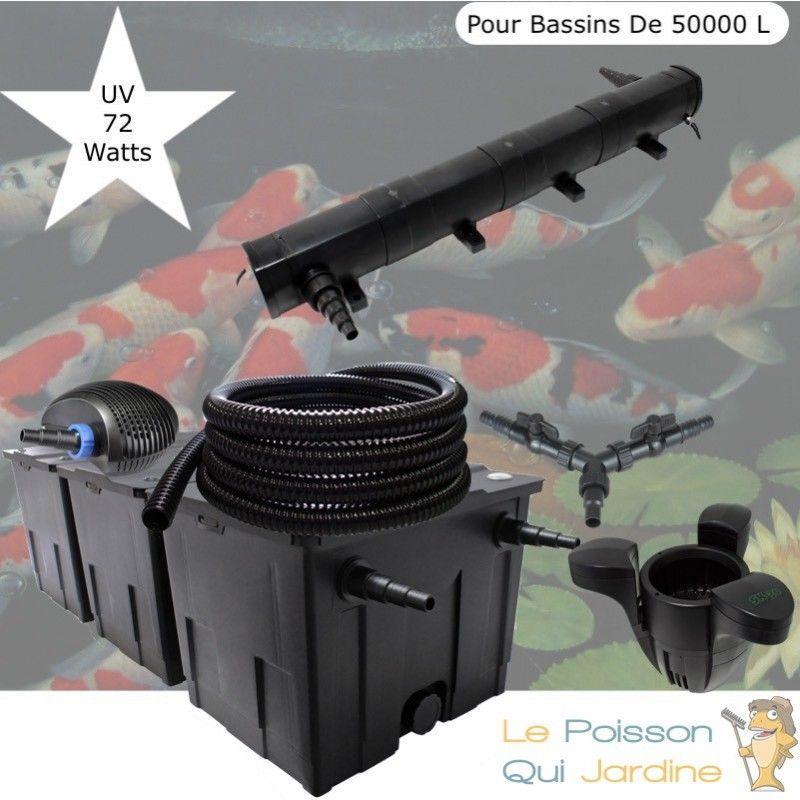 Kit filtration complet 72W + écumeur pour bassins de 50000 litres - LE POISSON QUI JARDINE