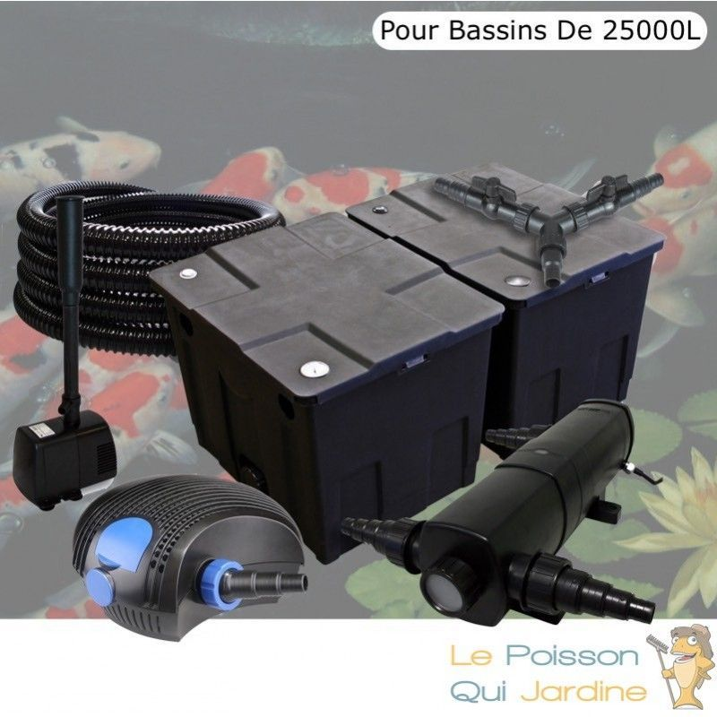 Kit Filtration Complet, 72W + Fontaine Pour Bassins De 25000 Litres - LE POISSON QUI JARDINE
