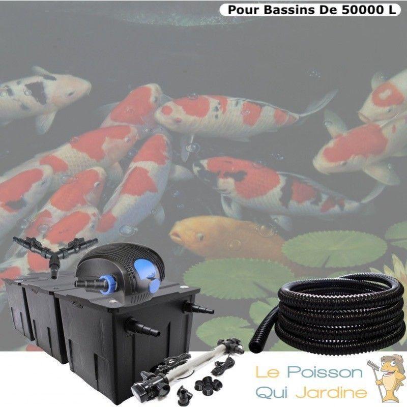 Kit Filtration Complet, UV 110W, Acier Inoxydable, Bassins De 50000L - LE POISSON QUI JARDINE