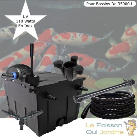 Kit Filtration Complet, UV 110W, Écumeur, Fontaine, Bassins De 35000L