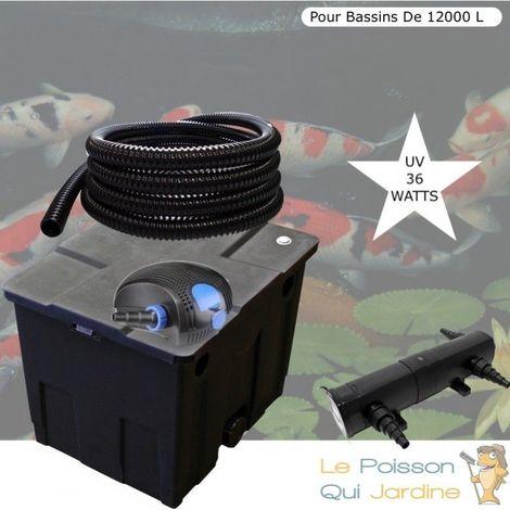 Kit Filtration Complet, UV 36W, Pour Bassins De 12000 litres, 12 m3