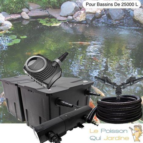 Kit Filtration Complet, UV 36W, Pour Bassins De 25000 Litres
