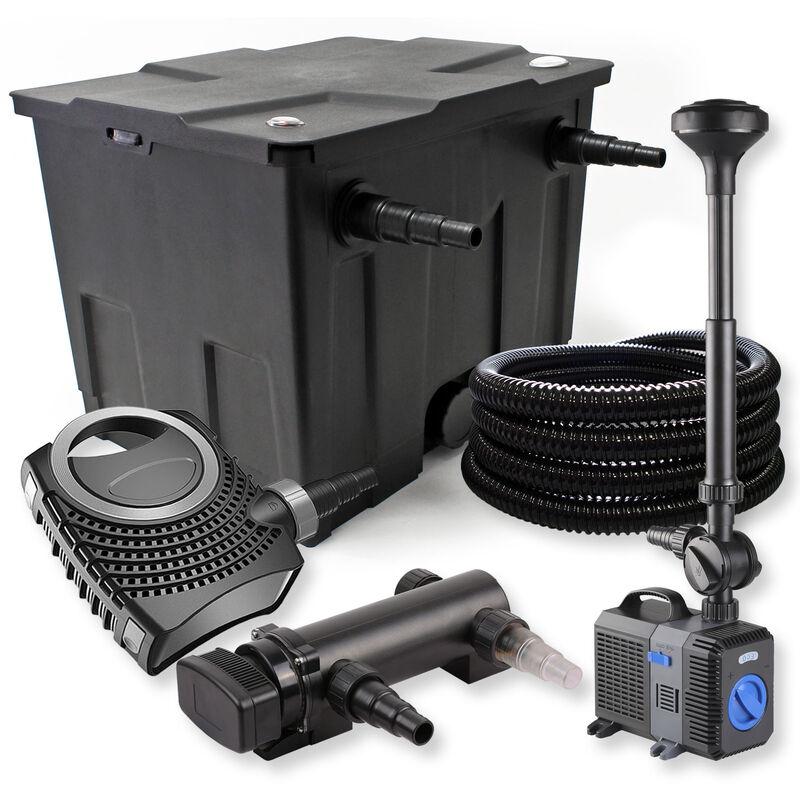 Wiltec - SunSun Kit de filtration de bassin 12000l 18W UVC Stérilisateur NEO8000 70W Pompe Tuyau Fontaine