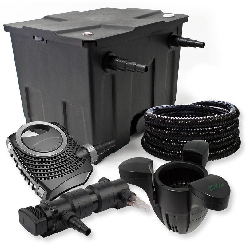 Wiltec - SunSun Kit de filtration de bassin 12000l 18W UVC Stérilisateur NEO8000 70W Pompe Tuyau Skimmer