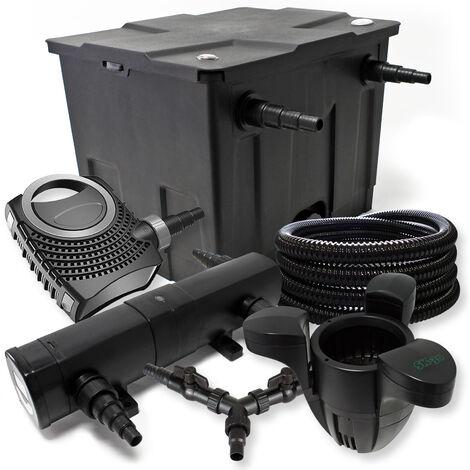 Kit filtration de bassin 12000l 24W Stérilisateur NEO8000 70W Pompe 25m Tuyau Skimmer SK30
